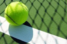 При игре в большой теннис