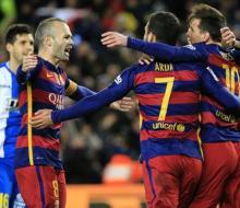 «Барселона» разгромила «Эспаньол»