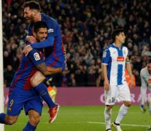«Барселона» в каталонском дерби разгромила «Эспаньол»