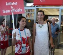 В аэропорту Казани встретили 2013-го спортсмена