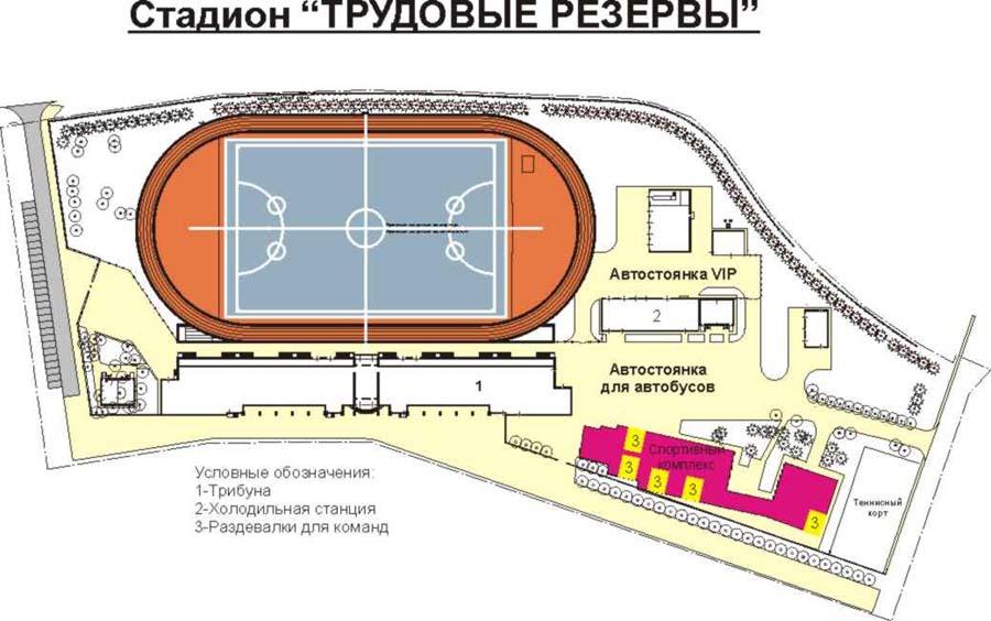 Схема стадиона трудовые резервы курск